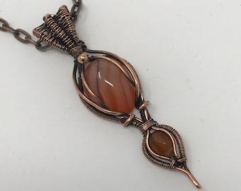Carnelian Gemstone with copper