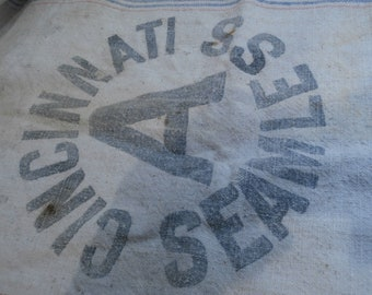 Heavy Duty Fabric Seamless Feed Sacks  Company Names   Used  Show Some Patched