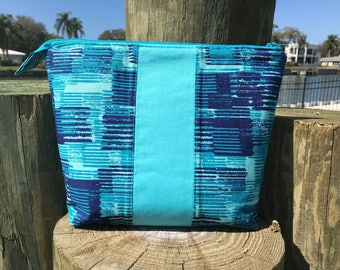 Shades of Blue Cosmetic Toiletry Bag