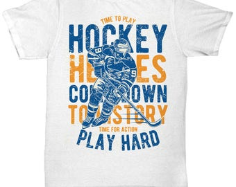 Time To Play Hockey T-shirt