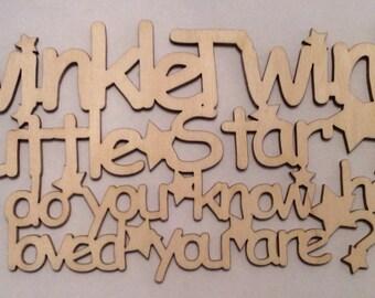 Gorgeous twinkle twinkle little star plaque.