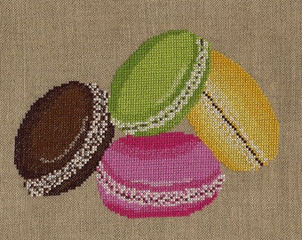 Delicious macarons embroidery chart