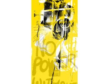 ASSPOINT7 - Mixed Media Fine Art Ltd Giclee Print