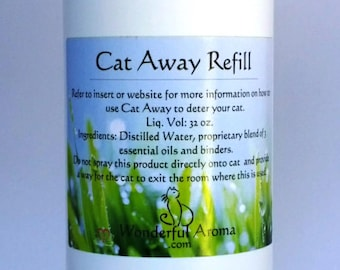Cat Away Organic Cat Repellent 32 oz. Refill with sprayer options