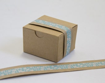 Kraft & Washi Tape EASY WRAPS  Set of 10  Your Choice of Colors  FITS 3x3x2 box
