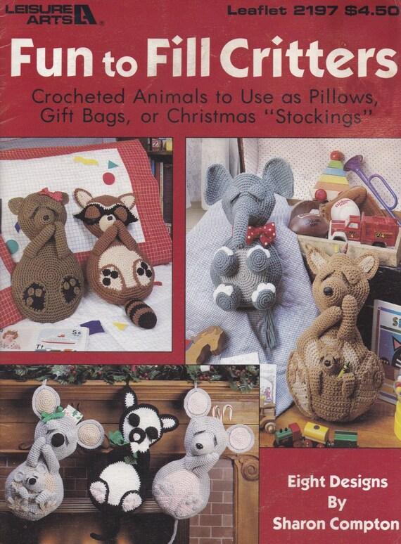 Diversión llenar de bichos ocio artes Crochet patrón folleto
