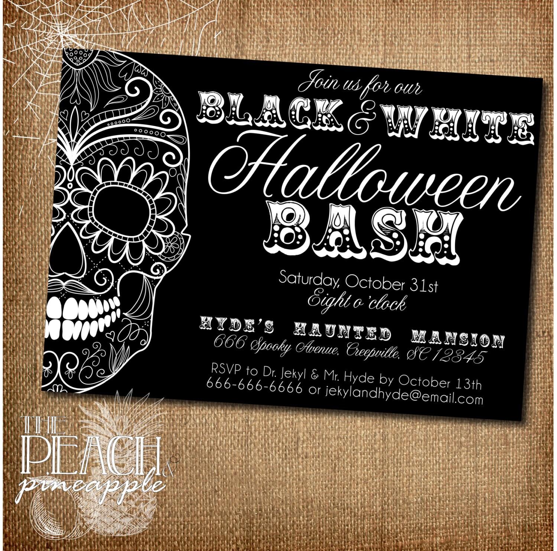 Moderno Invitaciones De Halloween De Miedo Imprimible Gratis ...