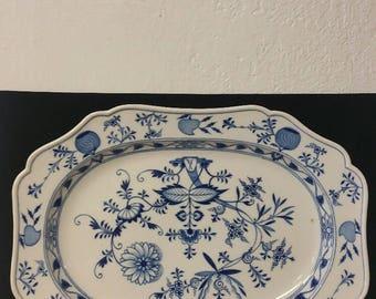 """Meissen Blue Onion 17"""" Platter"""