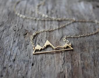 The Cascades- Mountain Pendant Necklace