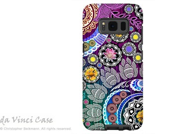Indian Paisley Case for Samsung Galaxy S8 PLUS - Purple Paisley Galaxy S 8 PLUS Case with Floral Art - Mehndi Garden - by Da Vinci Case
