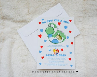 Yoshi/Mario Baby Shower Invitation