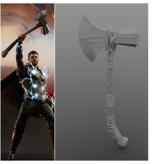 new thor 39 s stormbreaker hammer axe infinity war 3d