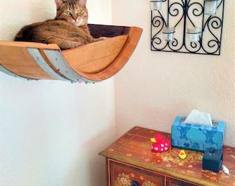 Wine Barrel  Wall Hanging Cat Bed - BIRALA