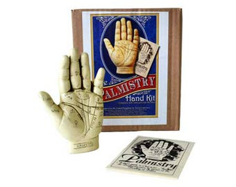 Palmistry Hand, Learn Palm Reading Anatomy Kit with Guidebook, Beginning Divination Altar Decor and Diagram