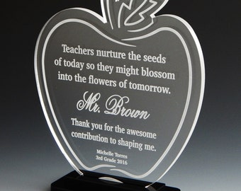 Thank You Gift for Amazing Teacher, Best Gifts for Teachers Day, End of Year Teacher Gifts, Teachers Nurture the seeds of Today,  ATA003