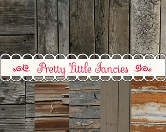 Digital Rustic Wood Backgrounds 12x12 Scrapbook Paper Pack