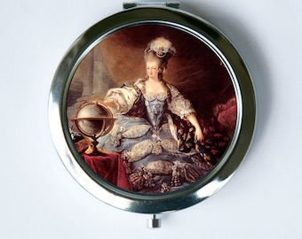 Marie Antoinette Compact Mirror Pocket Mirror Posing French Queen History revolution