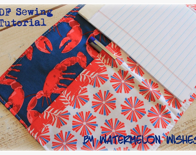 Sewing Tutorial PDF Notebook Organizer Grocery List Planner Coupon Pattern
