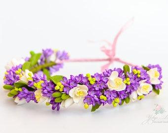 Rustic  floral crown Bridal flower crown Weadding headpiece Crown Bridal hedpieces Floral hair wreath