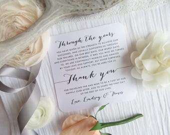 Wedding Thank You - Double Sided Itinerary    Wedding Thank You    Double Sided Thank You Itinerary - Style TY115