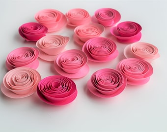 Paper Roses, Pink Wedding Flowers, Pink Flowers, Fake Flowers, Paper Rose Flower, Handmade Paper Flowers, Flower Made of Paper