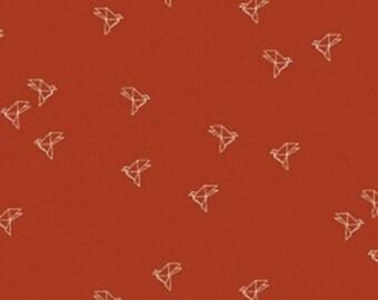 Bye Bye Birdie fabric Atelier Brunette-Terracotta