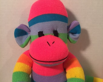 Long Leg Rainbow Sock Monkey !