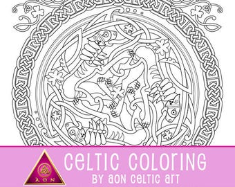Lion of Ireland - coloring page