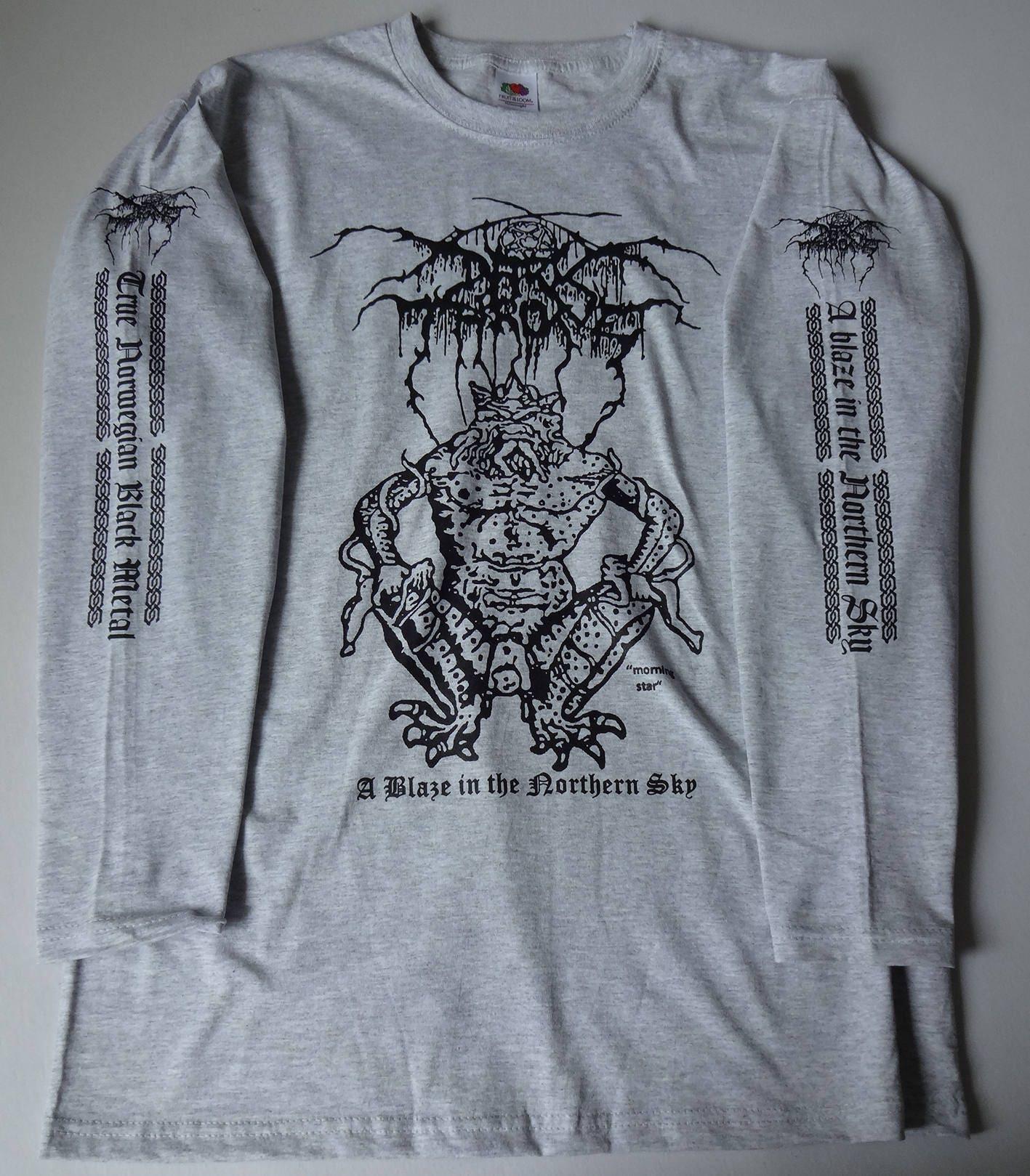 Longsleeve DARKTHRONE A Blaze In The Northern Sky // GREY // sizes S-XXL // Black Metal WGKbX