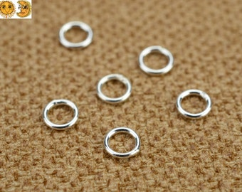 100 pcs 925 Sterling Silver Round closed Jump Rings Spacer Beads 4mm