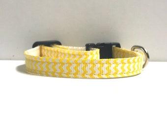 "3/8"" Yellow Chevron Collar"