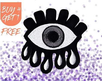 Evil Eye Patch Eye Patches Iron On Patch Embroidered Patch Nazar Crying Eye