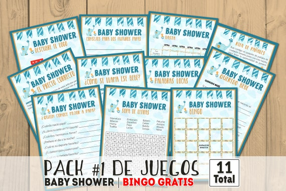 Baby Shower Games In Spanish Printables Games Printable Baby