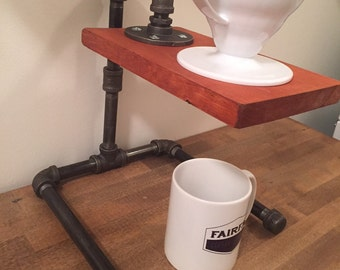 Black Steel Coffee Pourover Stand (Single - Hario V60 & Kalita Wave Drippers)