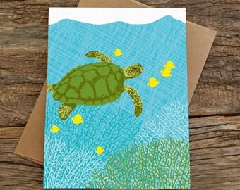 blank card set / sea turtle