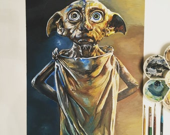 Dobby the House-elf Acrylic Painting