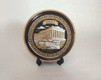 Souvenir plate , Parthenon of Greece ,  handmade