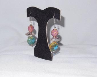 Earrings beaded Sterling Silver
