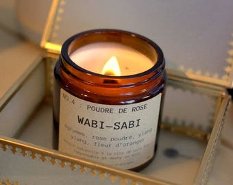 Candle Wabi - Sabi NO.4: pink powder