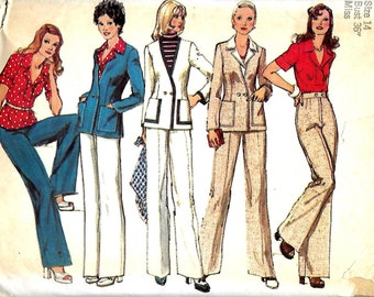 Simplicity 6285 Misses Double Breasted Cardigan, Pants And Blouse Pattern, Size 14, Bust 36, UNCUT