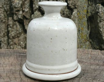 NEW Butter Dish, (FREE pottery GIFT with purchase) White Ceramic Handmade Butter Server