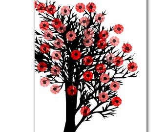 Cherry Blossom Tree- Fine Art Print, season, spring tree,decor, wall art, cherry blossom, pink flowers, spring flowers