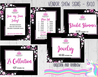 UPDATED LOGO Paparazzi Vendor Signs, Set of 5 - Digital files- PG - Instant Download