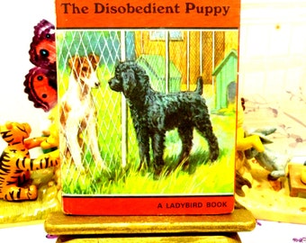 Vintage Ladybird Book Mick the Disobedient Puppy Series 497 Matt Cover like Well Loved Tales
