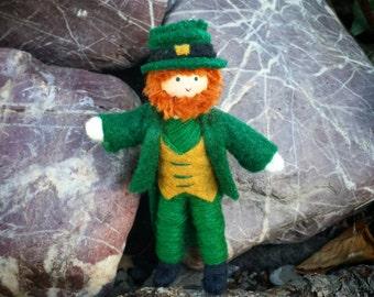 Leprechaun Doll -Leprechaun Figurine - St. Patrick's Day - Leprechaun Decor - Irish doll