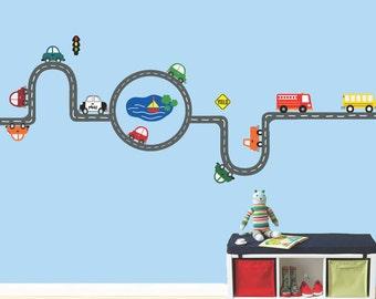 Roadway Transportation Cars Wall Decal REUSABLE - 627