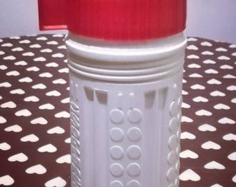 White and red vintage thermos brand ISOFRANCE (1/2 L) new