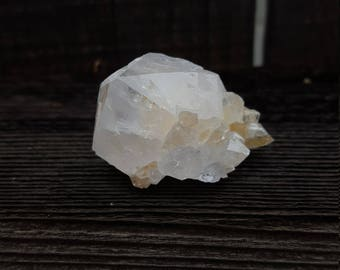 White Spirit Quartz with Citrine Point