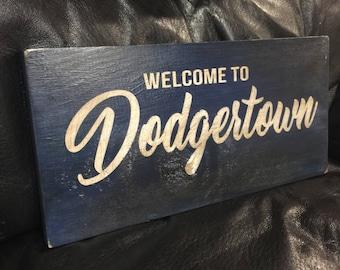 Welcome to Dodgertown   Baseball Sign   Los Angeles Dodgers   Distressed Wood Handmade   Boys Decor   Man Cave   Vero Beach Florida