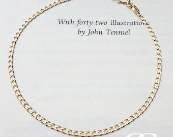 "Fine 9ct Yellow Gold Small Flat Curb Bracelet 7"""